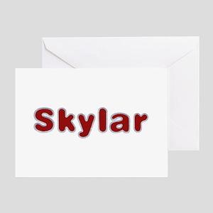 Skylar Santa Fur Greeting Card