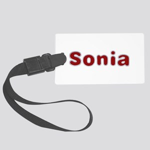 Sonia Santa Fur Large Luggage Tag