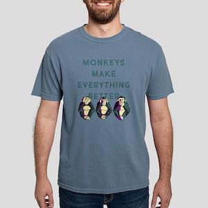 Monkeys Make Everything Mens Comfort Colors Shirt