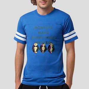 Monkeys Make Everything Better Mens Football Shirt