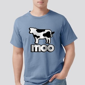 Cow Moo Mens Comfort Colors Shirt