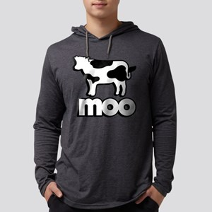 Cow Moo Mens Hooded Shirt