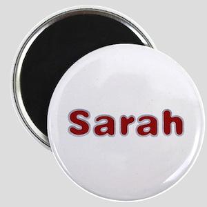 Sarah Santa Fur Round Magnet