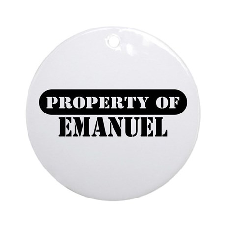 Property of Emanuel Ornament (Round)