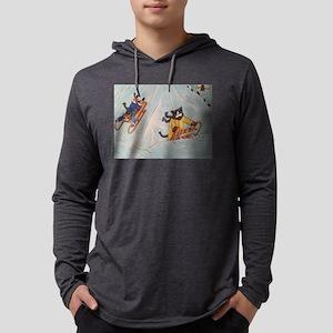 Festive Sledging Cats Long Sleeve T-Shirt