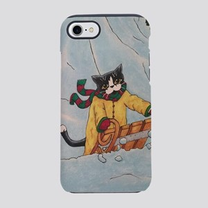 Festive Sledging Cats iPhone 7 Tough Case