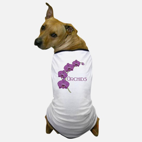 Orchids Dog T-Shirt