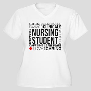 Nursing Student W Women's Plus Size V-Neck T-Shirt