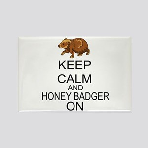 Keep Calm And Honey Badger On Rectangle Magnet