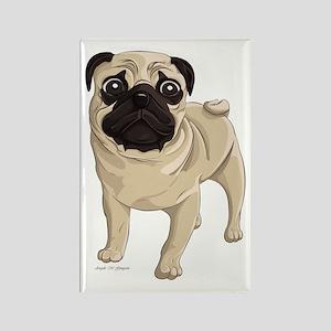 Pug Rectangle Magnet