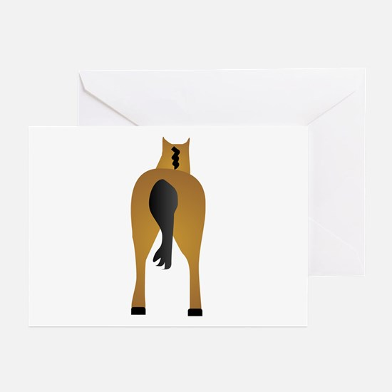 HORSES ASS Greeting Cards (Pk of 10)
