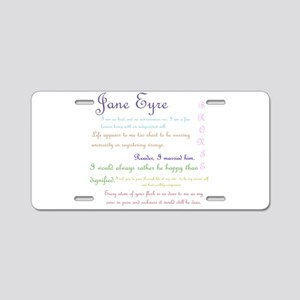 Jane Eyre Quotes Aluminum License Plate