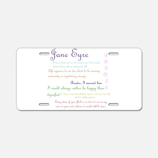Jane Eyre Quotes Aluminum License Plate