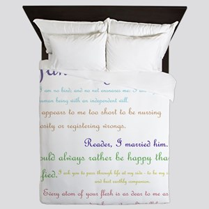Jane Eyre Quotes Queen Duvet