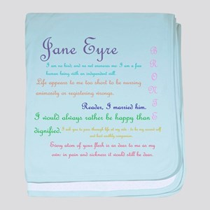 Jane Eyre Quotes baby blanket