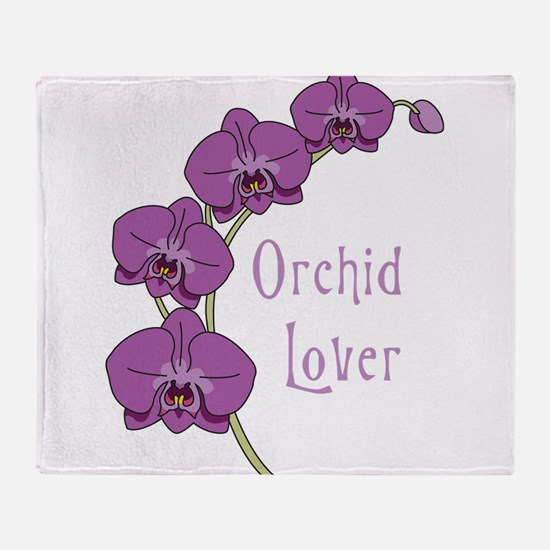Orchid Lover Throw Blanket