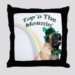 Mastiff Mornin' Throw Pillow