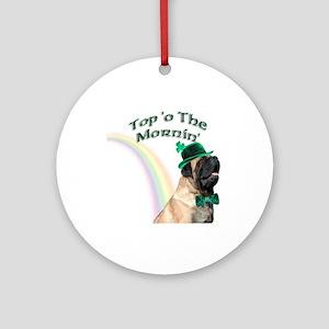 Mastiff Mornin' Ornament (Round)