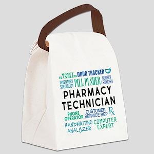 Pharmacy Technician Word Cloud Canvas Lunch Bag