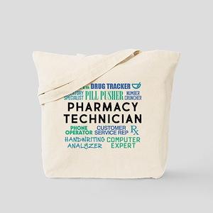 Pharmacy Technician Word Cloud Tote Bag