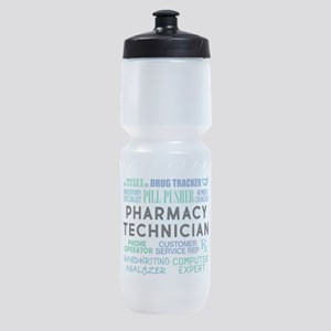 Pharmacy Technician Word Cloud Sports Bottle