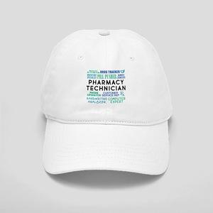 Pharmacy Technician Word Cloud Cap