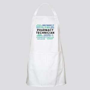 Pharmacy Technician Word Cloud Light Apron