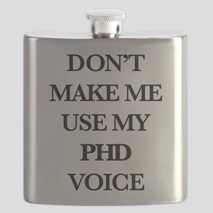 Don't Make Me Use My PhD Voice Flask