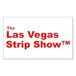 The Las Vegas Strip Show Tm Rectangle Sticker