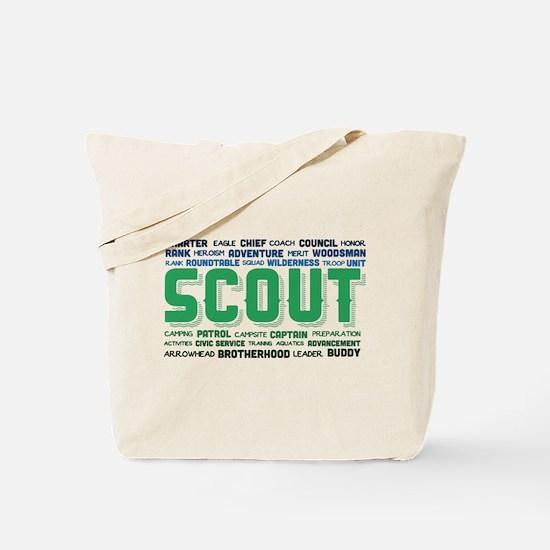 Scout Word Cloud Tote Bag
