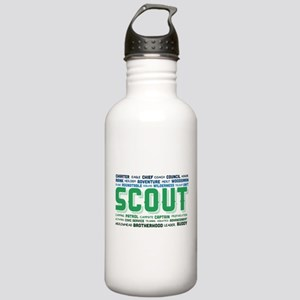 Scout Word Cloud Stainless Water Bottle 1.0L