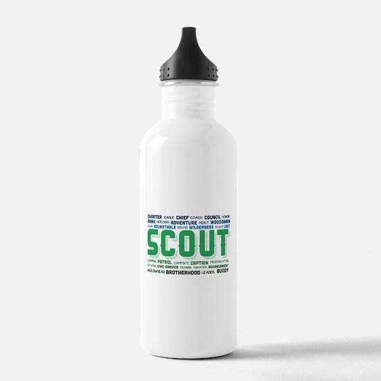 Scout Word Cloud Water Bottle