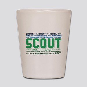 Scout Word Cloud Shot Glass
