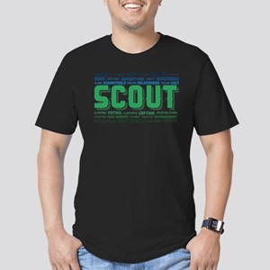Scout Word Cloud Men's Fitted T-Shirt (dark)