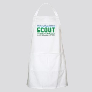 Scout Word Cloud Light Apron