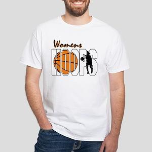 Women's Hoops White T-Shirt