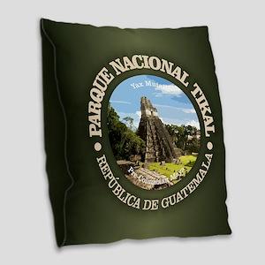 Tikal NP Burlap Throw Pillow