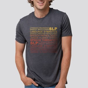 Speech Therapist Word Cloud Mens Tri-blend T-Shirt