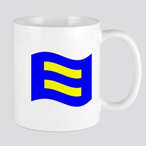 Waving Human Rights Equality Flag Mugs