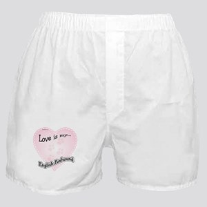 Love is my English Foxhound Boxer Shorts