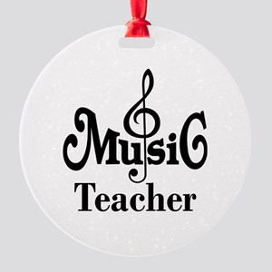 Music Teacher stylish Round Ornament