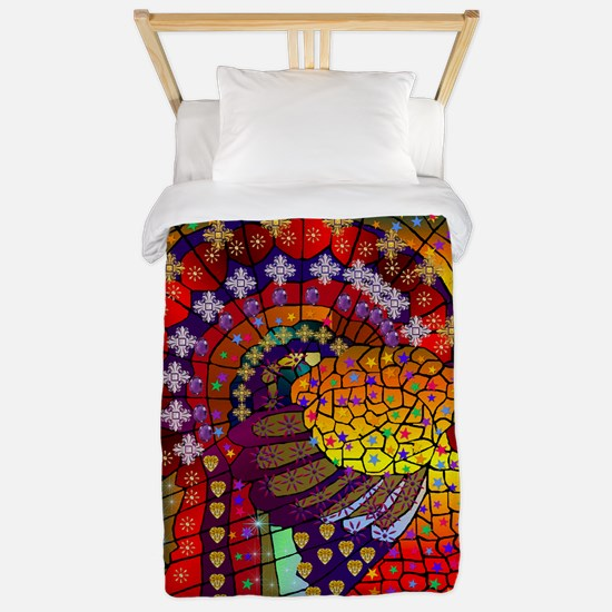 Thanksgiving Jeweled Turkey Twin Duvet
