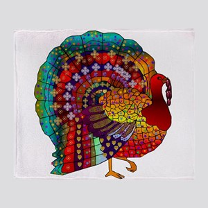 Thanksgiving Jeweled Turkey Throw Blanket