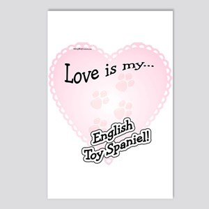 Love is my English Toy Spaniel Postcards (Package
