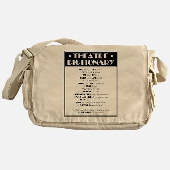 Theatre Dictionary Messenger Bag