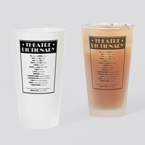 Theatre Dictionary Drinking Glass