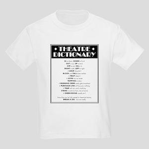 Theatre Dictionary Kids Light T-Shirt