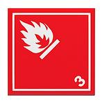 Flammable Liquids Pictogram Tile Coaster
