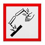 Corrosive Substance Pictogram Tile Coaster