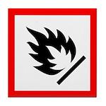 Flammable Substance Pictogram Tile Coaster